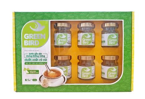 NutriNest - Hộp quà Green Bird nước yến chưng đường kiêng 6 hũ 75gr