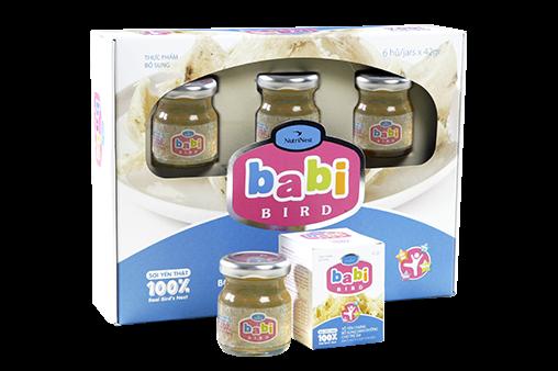 NutriNest - Babi Bird trẻ em hộp quà 6 lọ