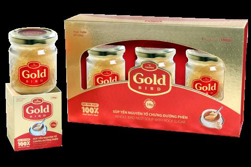 NutriNest - Gold Bird hộp quà 3 lọ 185gr