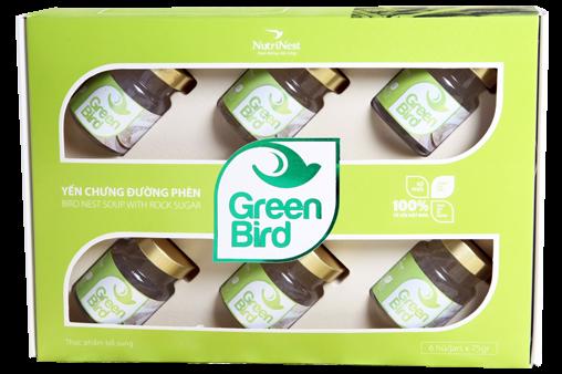 NutriNest - Green Bird hộp quà 6 lọ 75gr