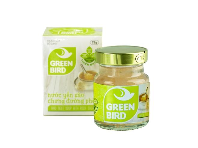 NutriNest - Green Bird yến chưng đường phèn 72gr