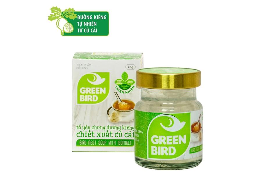 NutriNest - Green Bird nước yến chưng đường ăn kiêng 75gr
