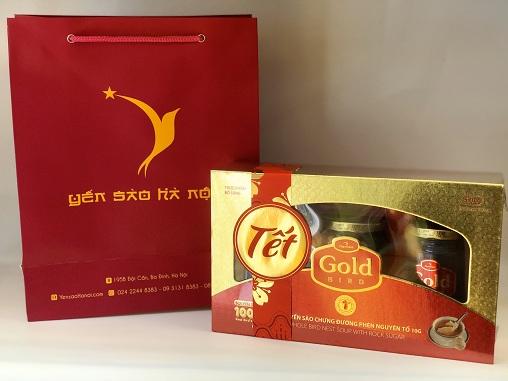 Quà Tết - Gold Bird hộp quà 3 lọ 190gr